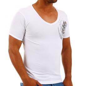 Carisma T shirt V hals White