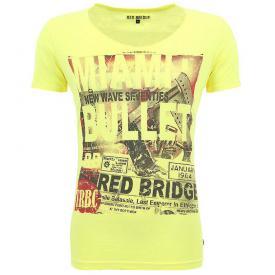 Red Bridge heren shirt Neon Yellow