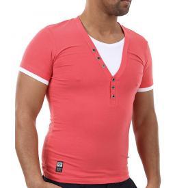 Carisma T shirt V hals Coral