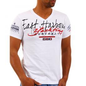 Rivaldi T shirt V hals Wit