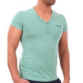 Heren Shirt 98 96 V hals Groen