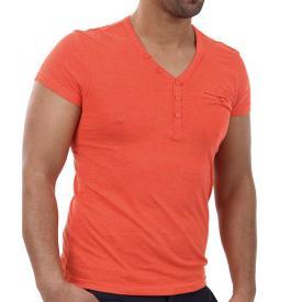 Heren Shirt 98 96 V hals Rood