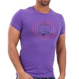 Bray Steve Alan heren shirt Paars