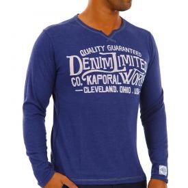 Kaporal T shirt Blue Melanged