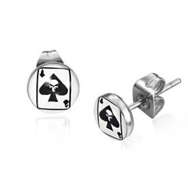 RVS Studs Skull Ace of Spades
