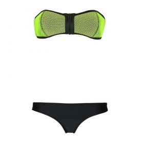 Bandeau bikini Neopreen Rits Groen Zwart