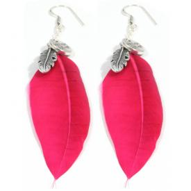 Heaven Eleven oorbellen Feather Pink