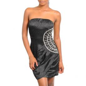 Strapless Sequin Dress Black