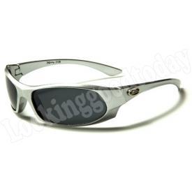 Xloop kinder zonnebril Army Zilver